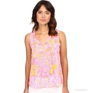 NWT Lilly Pulitzer   Lauren Top in Pink Pout